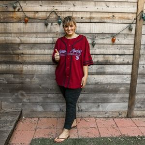 Texas A&M Aggies Maroon baseball jersey button up